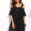 http://fr.shein.com/Black-Cold-Shoulder-Ruffle-Sleeve-Shift-Dress-p-298495-cat-1727.html